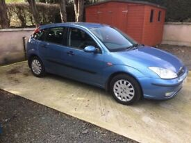 2002 Ford Focus 1.6 z-tec for Parts or repair no mot