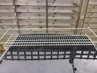Tops for stackable wire baskets