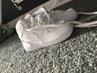 White nike Air Force, baby size 6, only worse once