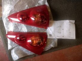 Peugeot 107 rear light clusters