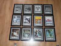 Set of 12 mounted photo plates - 'The Beatles Anthology'. Licensed by Apple Corps Limited..