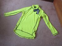 Two Zhik Spandex Tops - Large HIVIS yellow rash vests