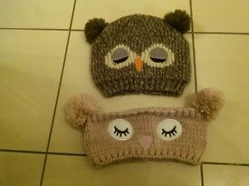 girls hat and ear warmer