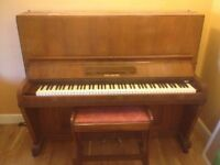 Waldburg piano and stool FOR SALE - £250 - open to offers