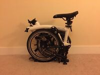 Limited Edition S2L 2016 Brompton Black Edition in white (used once)