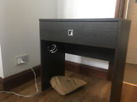 Brown Small Wooden Dressing Table With Pullout Drawer