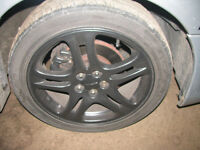 "Subaru Impreza WRX Turbo 2000 17"" Alloy Wheels & Tyres Black"