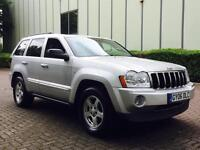 2006 Jeep Grand Cherokee 3.0 CRD V6 Limited Station Wagon 4x4 5dr LOW MILES + LEATHER + SAT NAV