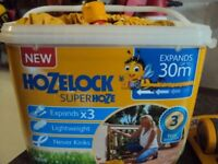 HOZELOCK SUPERHOZE, EXPANDS UP TO 30M, plus Multispray, USED ONLY COUPLE OF TIMES in EX CONDITION