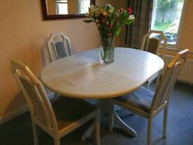 Wooden dining table and chairs for sale