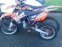 ktm 85 big wheel 2009 selling as none runner but will run swap px 125 road legal