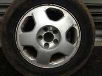 "15"" alloy rims only no tyres- vauhall vectra - PCD 5x110 - 6Jx15H2 ET49 - set of 4"