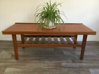 Vintage Retro Mid Century Teak Coffee Table