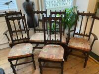 Ercol 6 High Back Yorkshire chairs