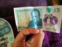 NEW 5 £ NOTES - AA SERIE
