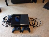 Xbox one with two controllers and 8 games