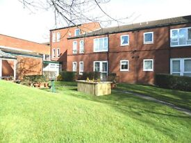 1 bedroom flat in popular over 55's scheme; parking; laundry, close to shops, active community