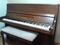 Welmar Piano, upright mahogany