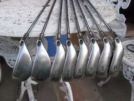 Callaway Big Bertha Irons 4,5,6,7,8,9. PW SW