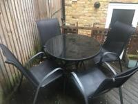 Chairs and table garden set