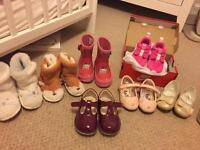 Job lot size four toddler shoes - VGC