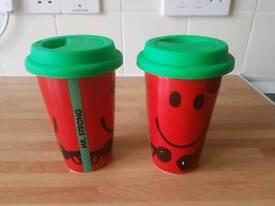 Mr Strong China travelling mug