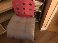 Child's IKEA desk and chair