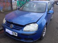 2005 VW GOLF 1.4 PETROL MANUAL BLUE ''BREAKING'' PARTS FOR SALE