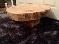Bespoke Handmade Solid Wooden Tree Trunk Coffee Table