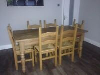 "Barker & Stonehouse ""Farmhouse Style"" Dining / Kitchen Table & 6 Matching Chairs"