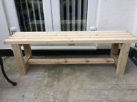 New handmade treated timber garden bench