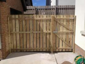 Fencing supplied and erected £13 per foot