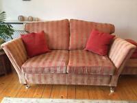 Duresta 2 seater sofa with footstool