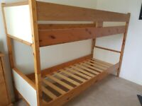 Bunk bed free to whoever collects. Can be dismantled and have as 2 single beds