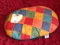 Luxury Pet Bed by Heathwood - Bright Harlequin Fabric - NEW.