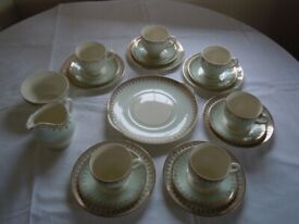 British Anchor 21 Piece Tea Set From The 1950's