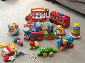 Baby & toddler toys - all light & sound, learning toys - Bundle price listed, can be sold separately