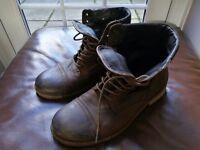 Mens leather boots Allsaints uk 9.5