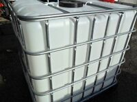IBC 1000 LITRE WATER / FLUID CONTAINERS