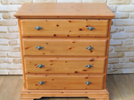 Satin smooth function chest of drawers solid pine wood (Delivery)
