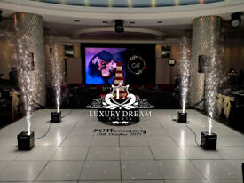 CHEAPEST LED DANCE FLOOR SEEMLESS GLOSS HIRE LONDON PRICE MATCH LOW FOG SPARKLERS FIREWORKS DRY ICE