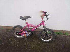 """Raleigh Mini Max girls pink bike 14"""" wheels"""