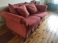 Scatter back sofa with 5 large cushions
