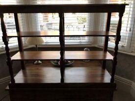 Antique mahogany book/storage cabinet