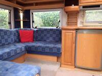 4 berth Touring caravan, Fixed beds, extra wide, Hobby Prestige 560UL, Fab seasonal tourer