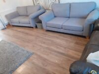 DFS 2 x grey 2 seater settees sofas