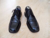 BARKER SAVILE ROW BLACK LEATHER LACE UP MENS/BOYS SHOES SIZE 7/7.5