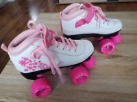 Girls roller boots Vision SFR quad skates size 1