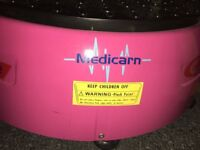 Pink powerplate for sale used twice with spare parts