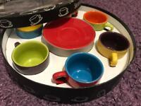 BIA Cordon Bleu set of 6 espresso cups and saucers